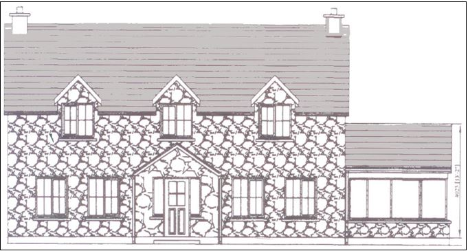 Front of property sketch